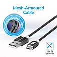 Кабель Promate linkMate-U2M USB-microUSB 1.2 м Black, фото 5