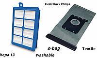 Филипс фильтр hepa и мешок многоразовый пылесосов FC9170 до 9176