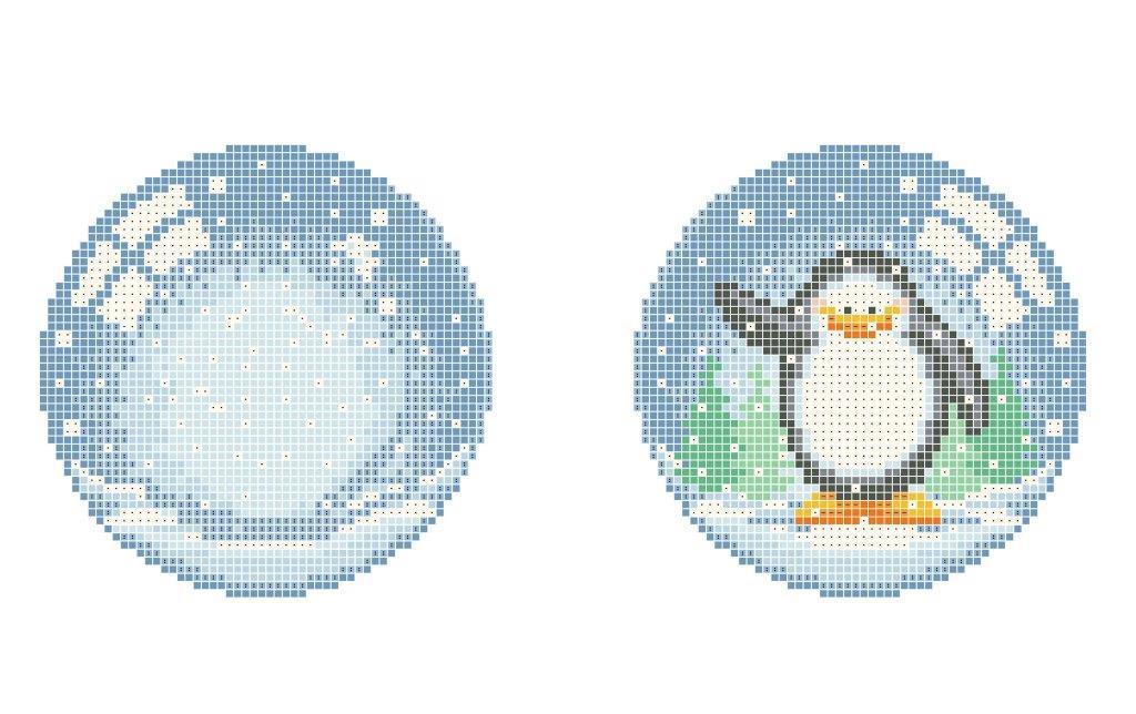 Схема для вишивки та вишивання бісером Бисерок «Новорічна іграшка №4» (A4) 20x25 (ЧВ-3504 (10))
