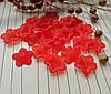 Бусина красный цветок, 17 мм, 20 г/упаковка