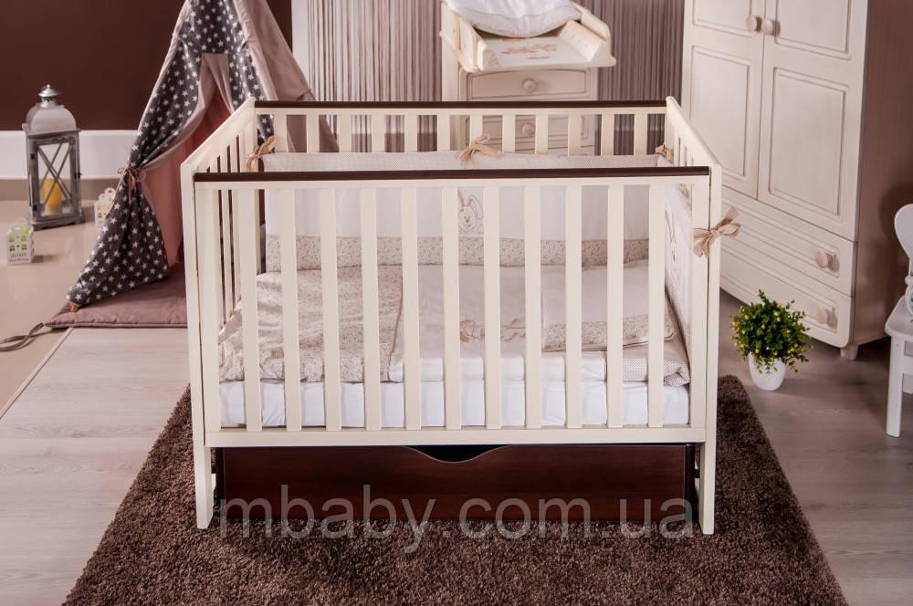 Детская кроватка Twins Pinocchio  маятник/ящик (3 цвета)