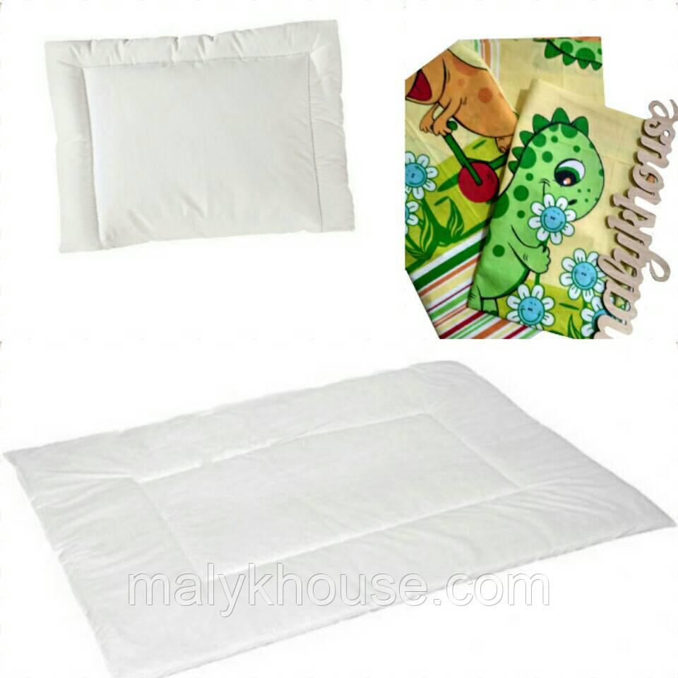 Одеяло детское с подушкой и постельным бельем для новорожденных