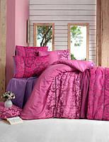Комплект постельного белья 200х220 LIGHT HOUSE бязь голд OYKU бордовий