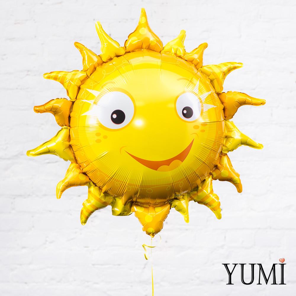 Фольгированный шарик с гелием Солнышко
