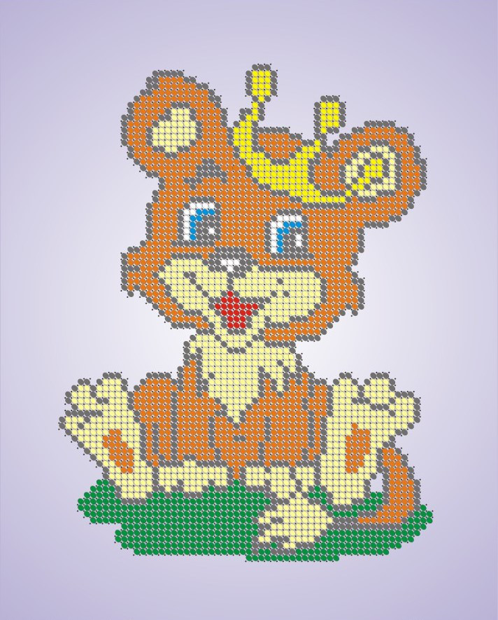 Схема для вишивки та вишивання бісером Бисерок «Львенок в короне» (A4) 20x25 (ЧВ-3070)