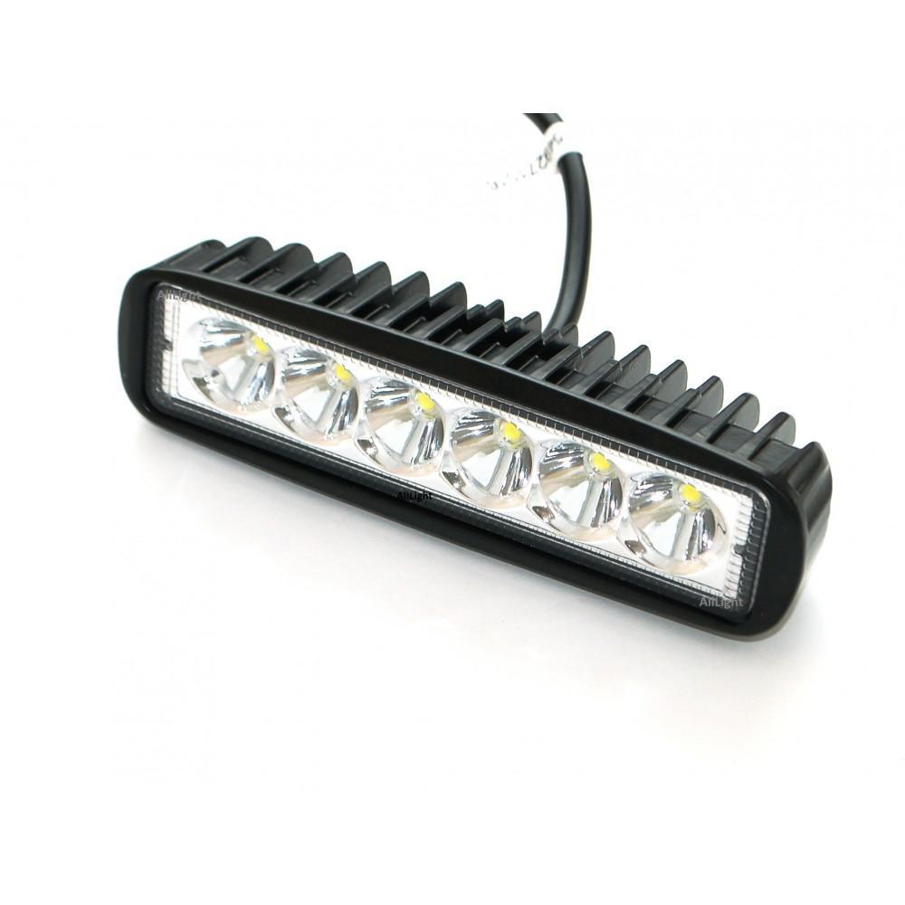 Світлодіодна фара AllLight 07T-18W 6 chip EPISTAR 9-30V