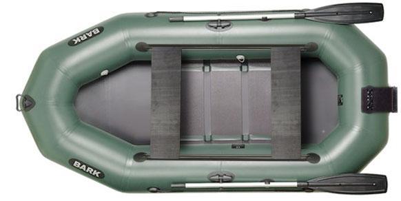 Лодка BARK B-280ND, Трёхместная Надувная ПВХ Барк Б-280НД Реечный коврик Навесной транец Передвижные сиденья