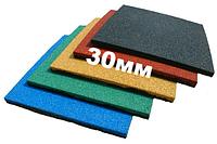 Резиновая плитка Eco Standard, 500*500*30 мм