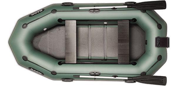 Лодка BARK B-280NPD, Трёхместная ПВХ Барк Реечный коврик Навесной транец Привальный брус Передвижные сиденья