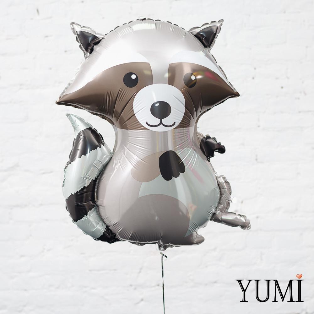Воздушный фольгированный шарик Енот