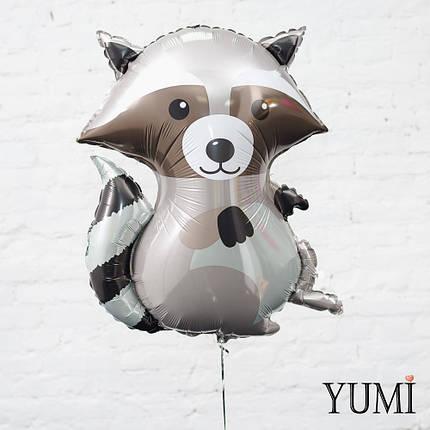 Воздушный фольгированный шарик Енот, фото 2