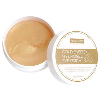 Гидогелевые патчі з мікрочастинками золота PUREDERM Gold Energy Hydrogel Eye Patch