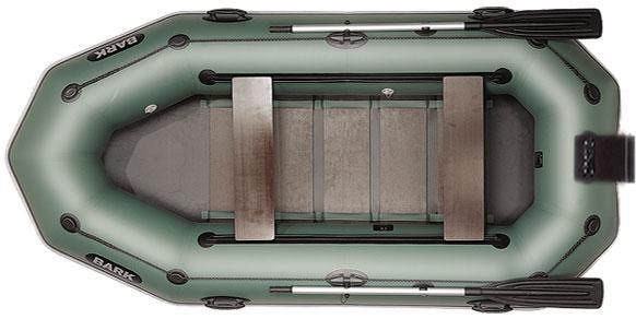 Лодка BARK B-300NPD, Трёхместная ПВХ Барк Реечный коврик Навесной транец Привальный брус Передвижные сиденья