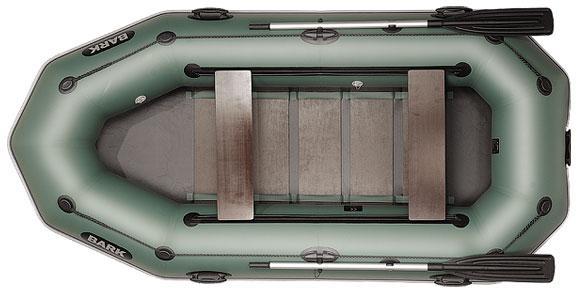 Лодка BARK B-300PD, Трёхместная Надувная ПВХ Барк Б-300ПД Реечный коврик Привальный брус Передвижные сиденья