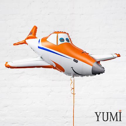 Фольгированный шарик с гелием Самолет Дасти, фото 2