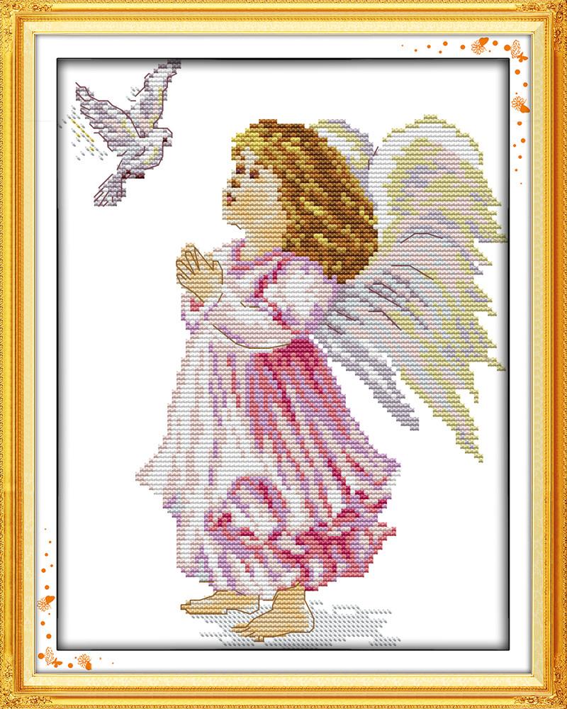 Ангелочек RA032/2 Набор для вышивки крестом с печатью на ткани 14ст