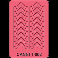Трафарет для френча шеврон CANNII  Т - 002