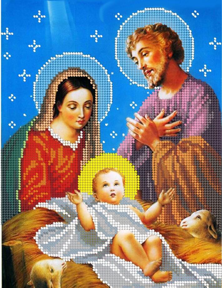Схема для вишивки та вишивання бісером Бисерок «Різдво» (A4) 20x25 (ЧВ-3080(10))