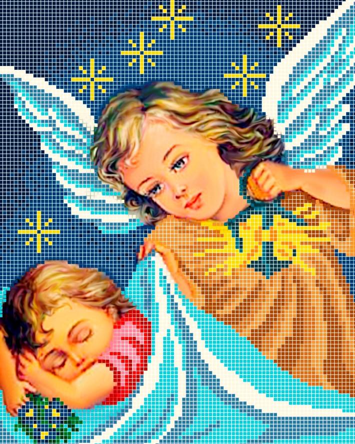 Схема для вишивки та вишивання бісером Бисерок «На добраніч» (A4) 20x25 (ЧВ-3097(10))