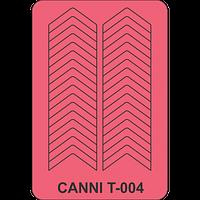 Трафарет для френча шеврон CANNI  Т - 004