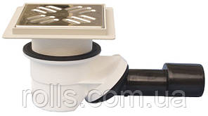 HL522KE Трап для душа, монтируемый в полу, DN40/50 поворотный с запахозапирающим устройством, с воротом
