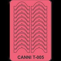 Трафарет для френча улыбка CANNI Т - 005
