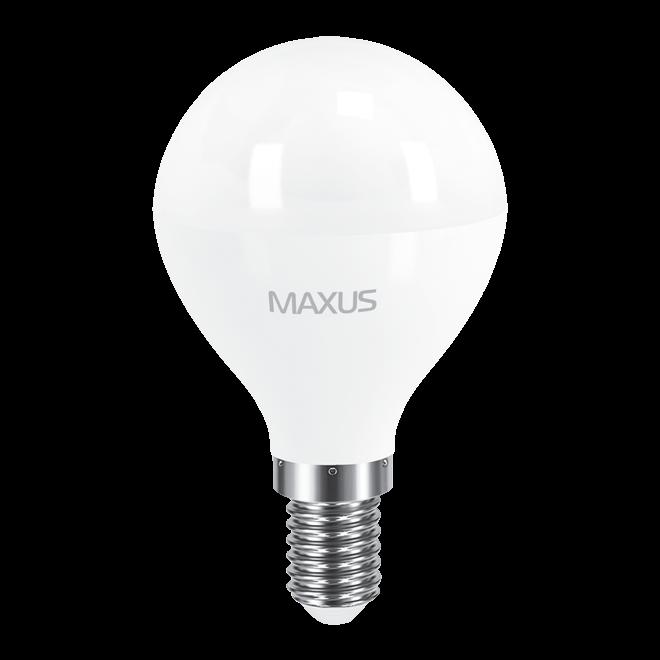 Светодиодная LED лампа MAXUS, 8W, 4100K, 220V, G45 F, E14