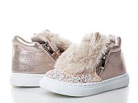 Обувь для девочек, детские ботики розовые, Caleton