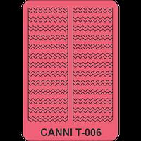 Трафарет волна CANNI Т - 006