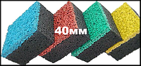 Резиновая плитка Eco Standard, 500*500*40 мм