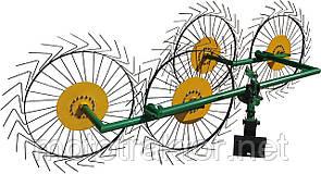 Грабли для мотоблока «Солнышко» ГВР-4 (грабли ворошилки 4-х колесные)