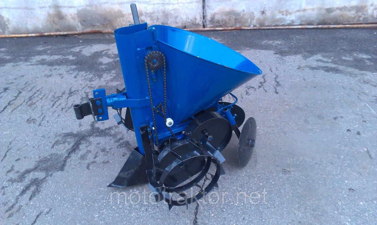 Картофелесажалка мотоблочная КСМ-1Л (синяя)