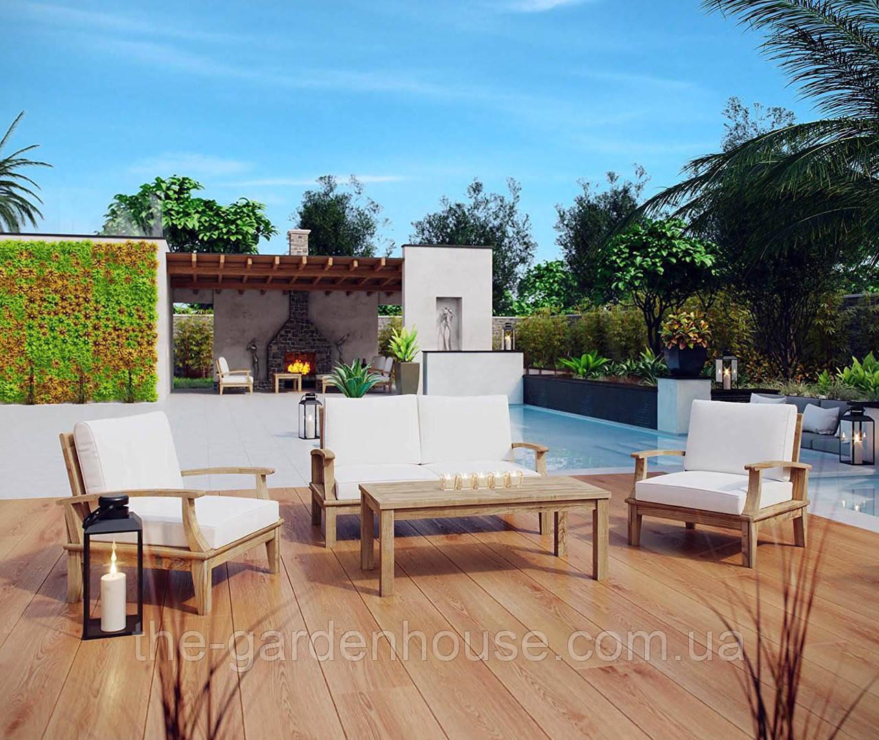 Садовый набор мебели Selbi из тика с подушками