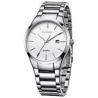 Мужские часы CURREN 8106 Silver & White серебристо-белые