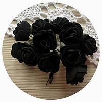 """Цветы из фоамирана """"Черные"""""""