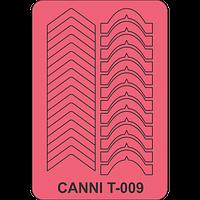 Трафарет для френча микс CANNI - 009
