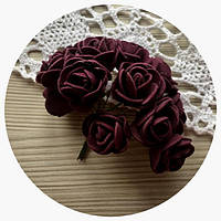 "Цветы из фоамирана ""Бордо"""