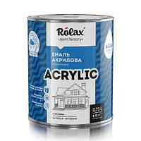 Эмаль акриловая универсальная водно-дисперсионная 0.9л «ACRYLIC» ROLAX