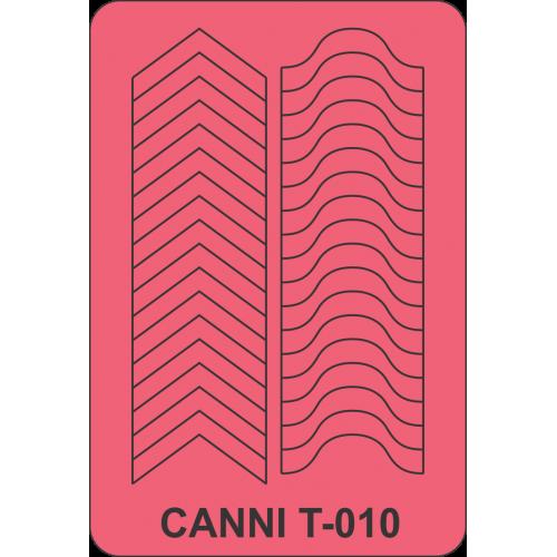Трафарет для френча микс CANNI - 010