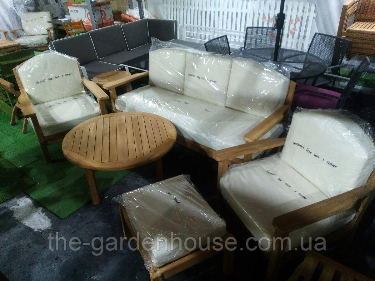 Садовый набор мебели Sydney из тика с подушками