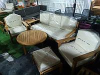 Садовый набор мебели Sydney из тика с подушками, фото 1