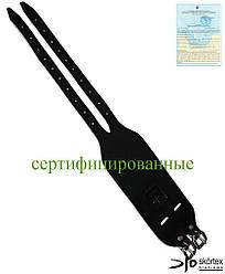 Напульсник кожаный черный SKÓRTEX Польша (защита запястья) NS-S2 B