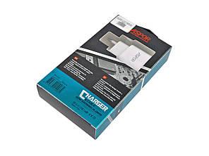Сетевое зарядное устройство Aspor A802P с LED подсветкой + кабель microUSB 2,4A, фото 2