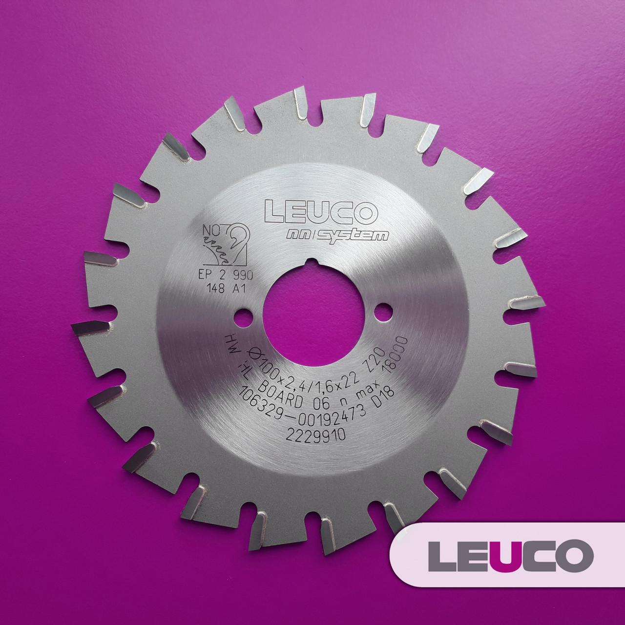 100x2,4x1,6x22 z=20 Торцеві дискові пили Leuco nn-System для обробки крайки (Hebrock)