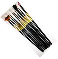 Кисти набор для рисования, 10 шт. золото Starlet Professional