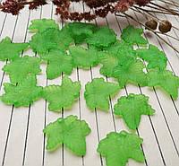 Бусина зеленый листик, 19х19 мм, 20 г/упаковка