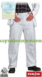 Кожаные спилковый брюки для сварочных работ REIS SSB JS