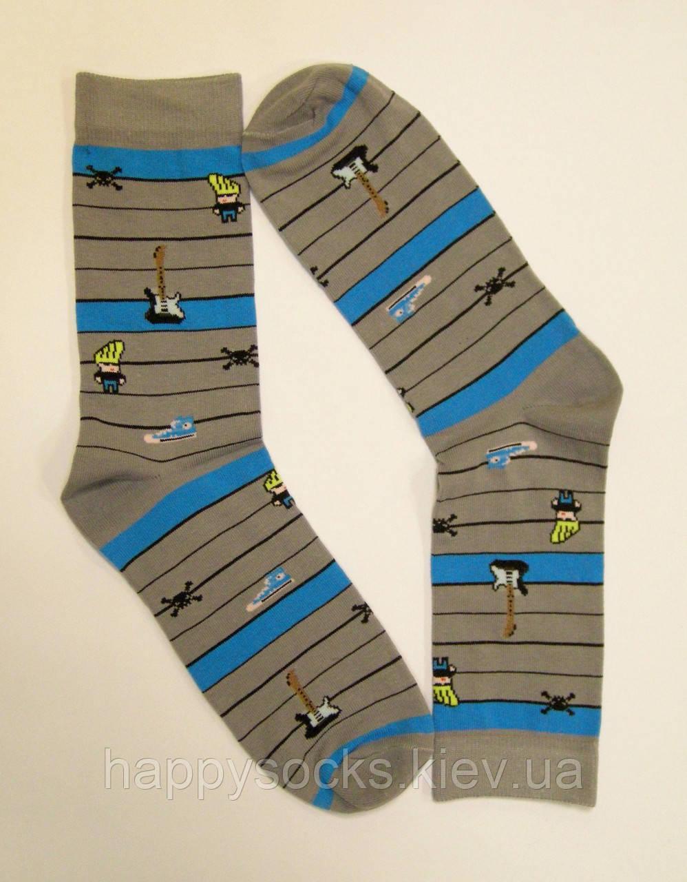 Мужские яркие носки в веселые картинки