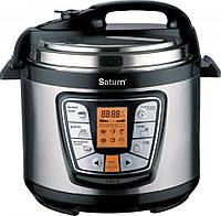Мультиварка  SATURN ST-MC9181 (1000 Вт, 6 л, электроника, каши, варка на пару, вепечка)