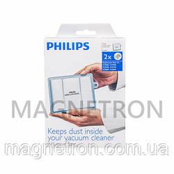 Комплект микрофильтров AFS (2шт) для пылесоса Philips FC8030/00